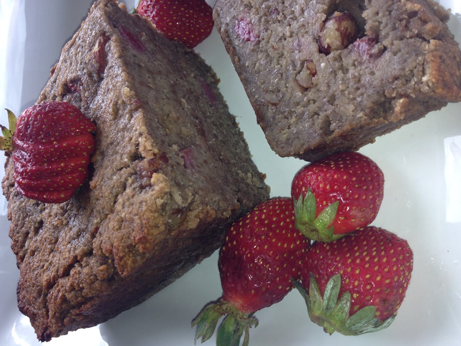 Banana Berry Protein Loaf
